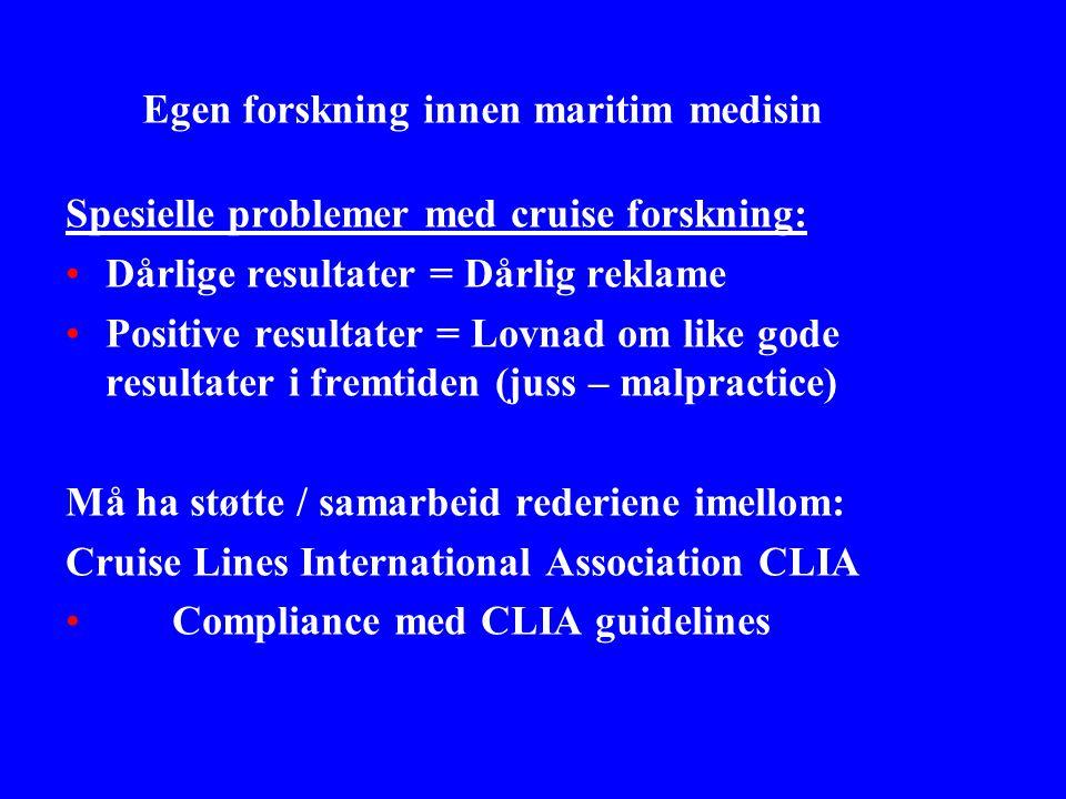 Egen forskning innen maritim medisin