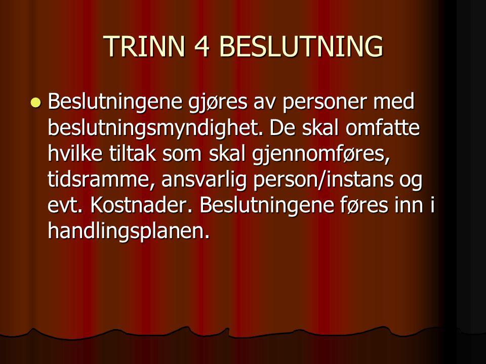 TRINN 4 BESLUTNING