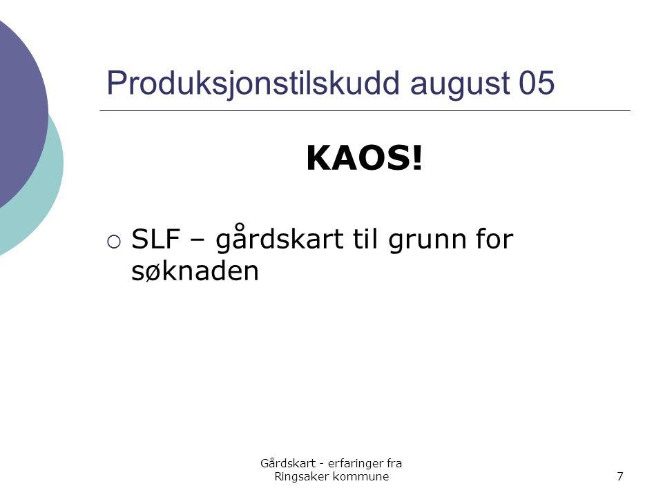 Produksjonstilskudd august 05