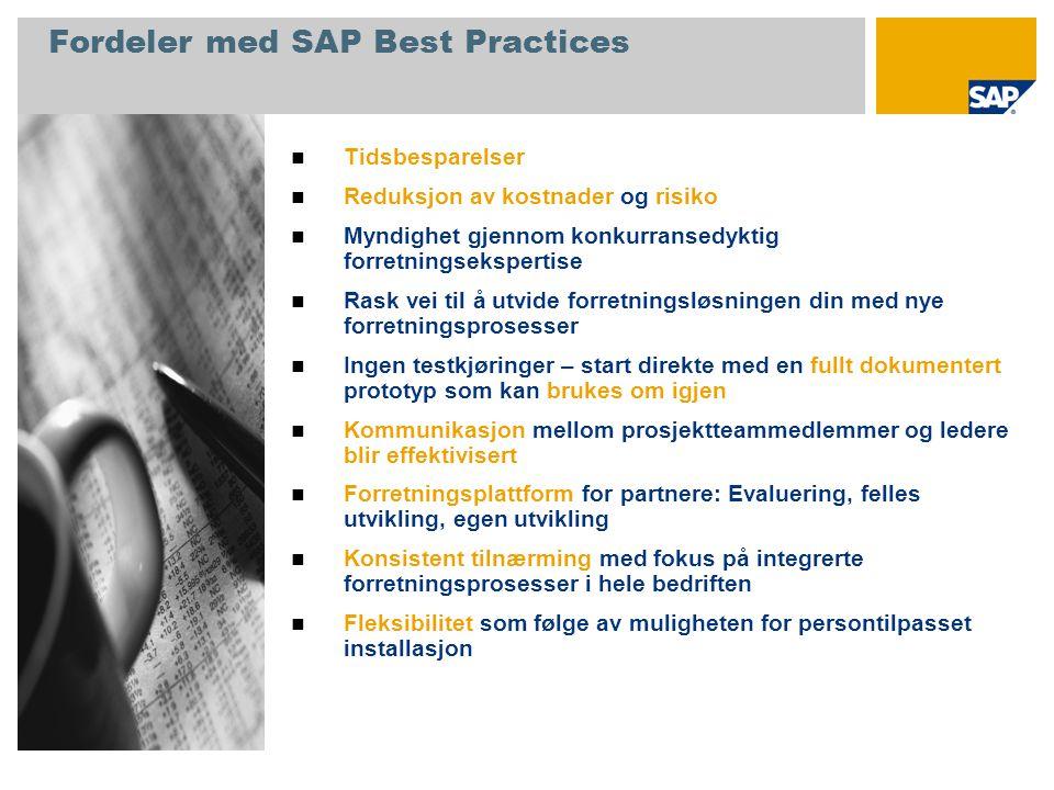 Fordeler med SAP Best Practices