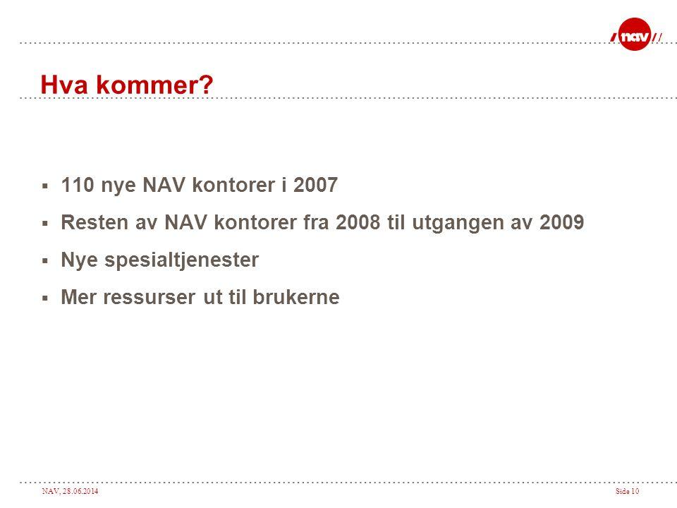 Hva kommer 110 nye NAV kontorer i 2007
