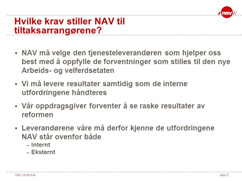 Hvilke krav stiller NAV til tiltaksarrangørene
