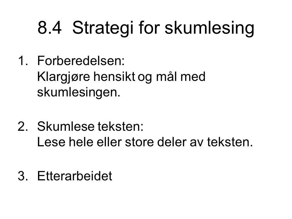 8.4 Strategi for skumlesing