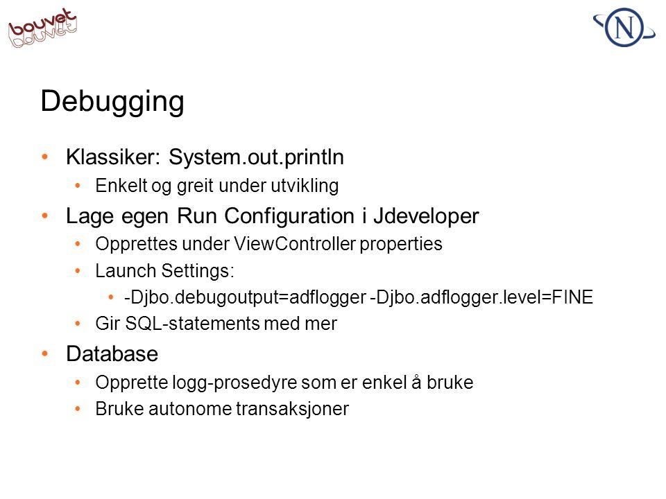 Debugging Klassiker: System.out.println