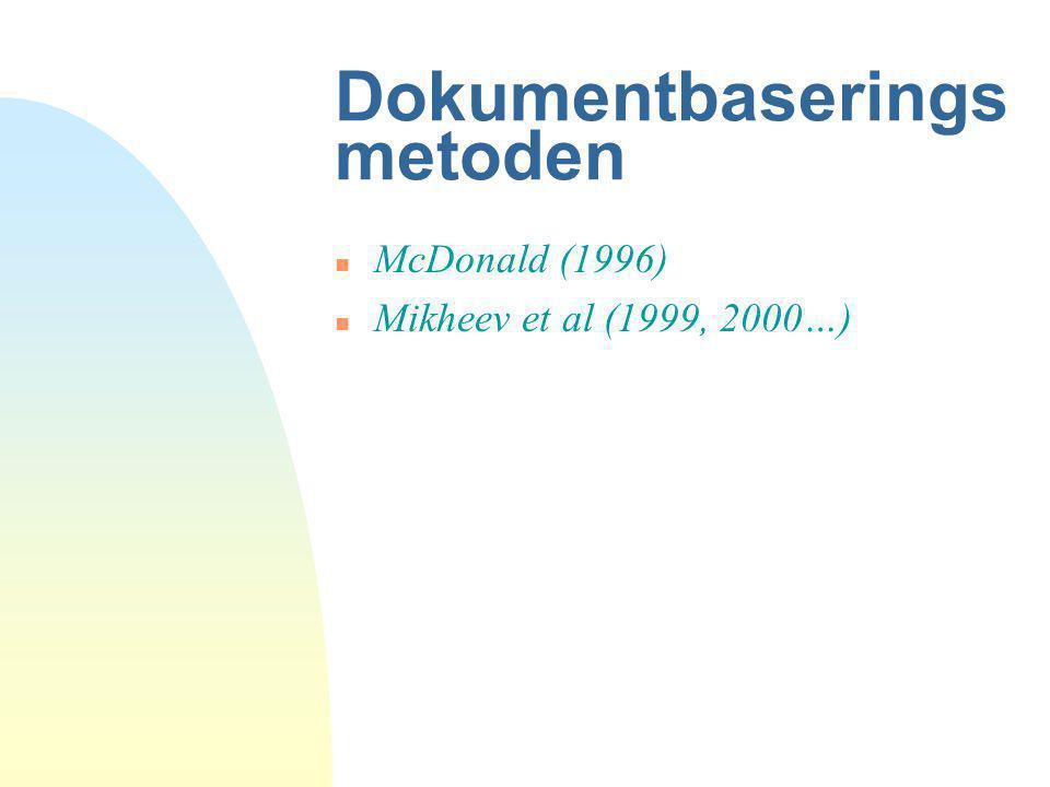 Dokumentbaseringsmetoden