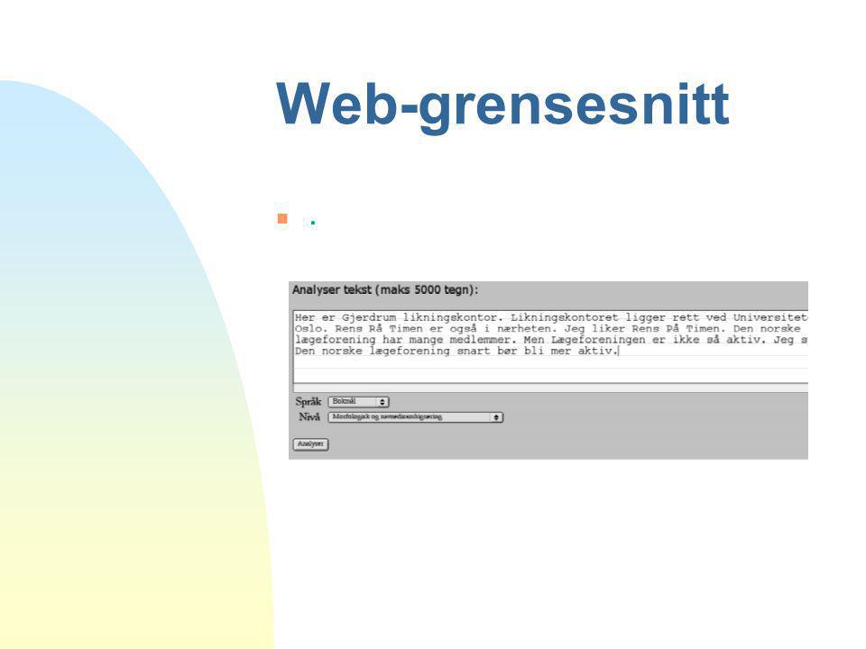 Web-grensesnitt .