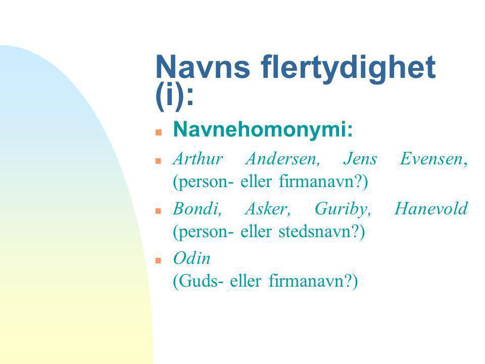 Navns flertydighet (i):