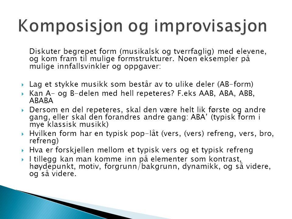 Komposisjon og improvisasjon