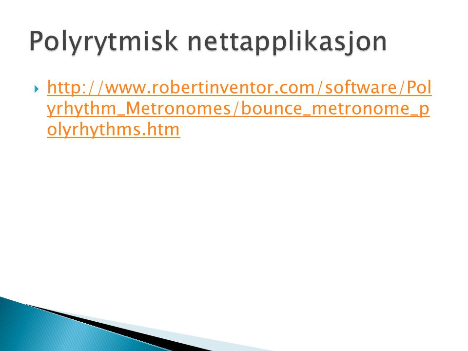 Polyrytmisk nettapplikasjon