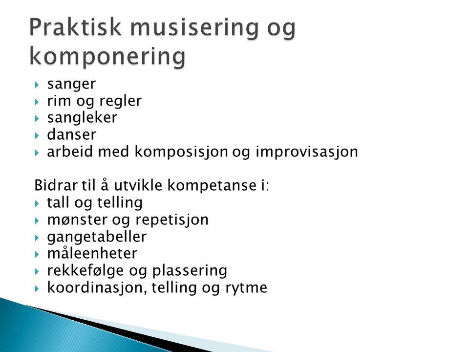 Praktisk musisering og komponering