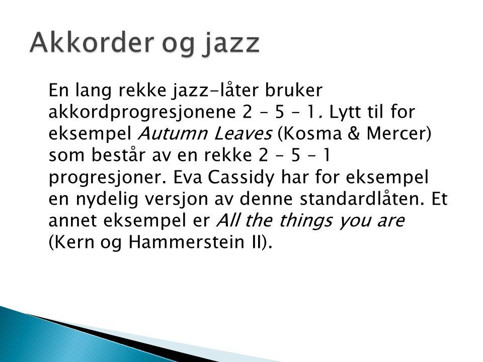 Akkorder og jazz