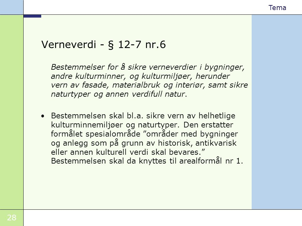 Verneverdi - § 12-7 nr.6