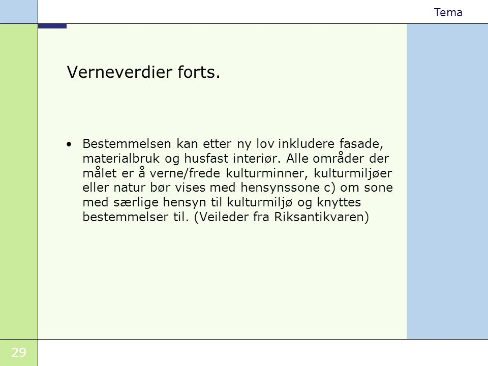 Verneverdier forts.
