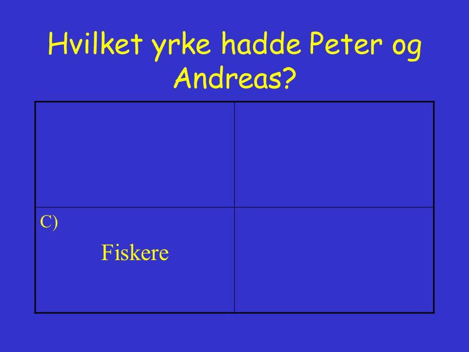 Hvilket yrke hadde Peter og Andreas
