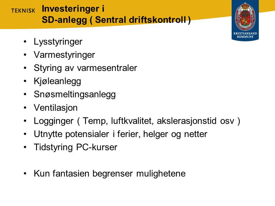 Investeringer i SD-anlegg ( Sentral driftskontroll )