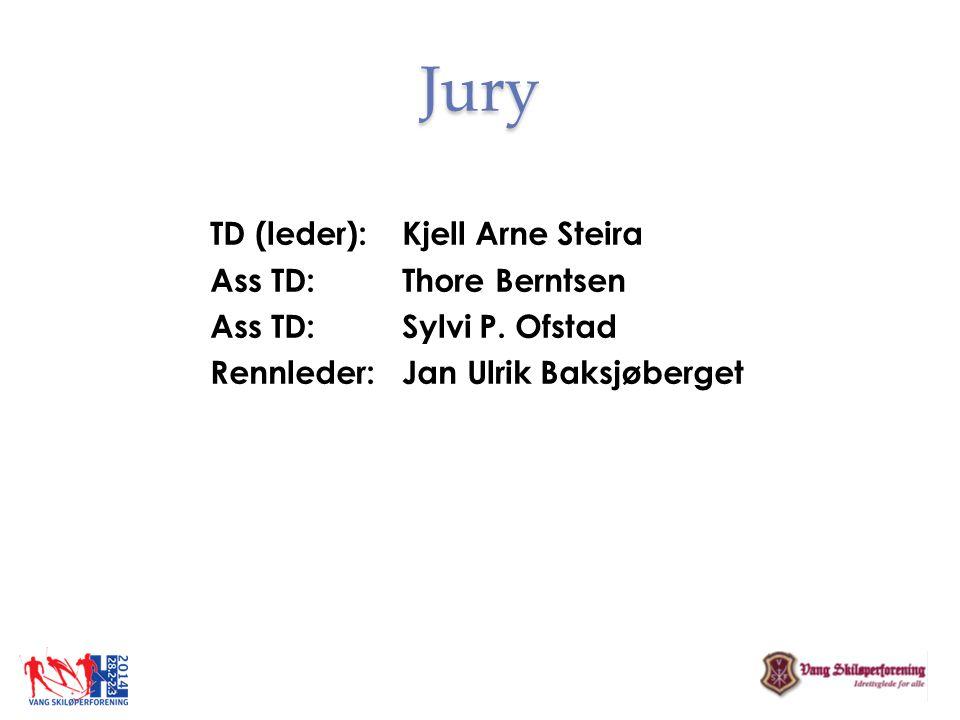 Jury TD (leder): Kjell Arne Steira Ass TD: Thore Berntsen