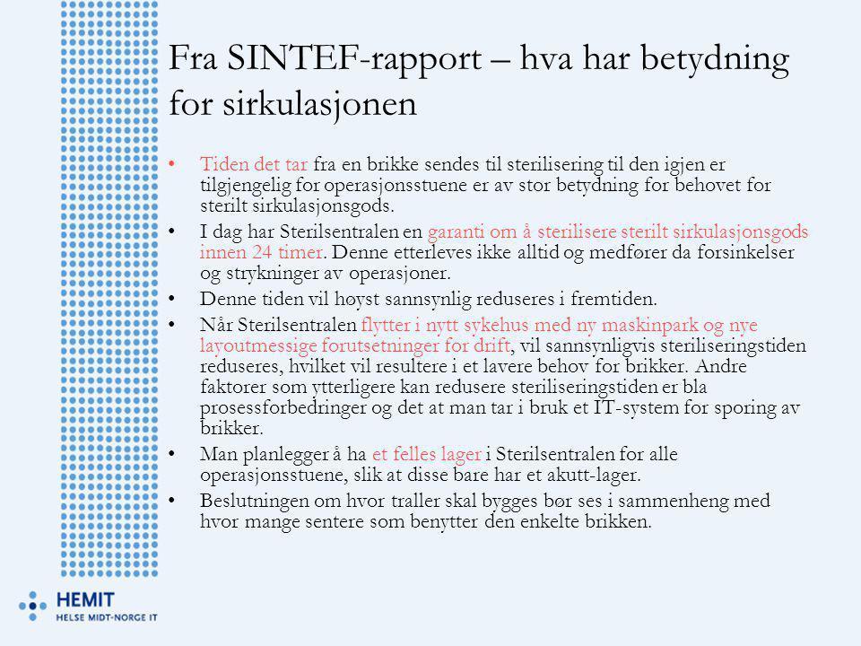 Fra SINTEF-rapport – hva har betydning for sirkulasjonen