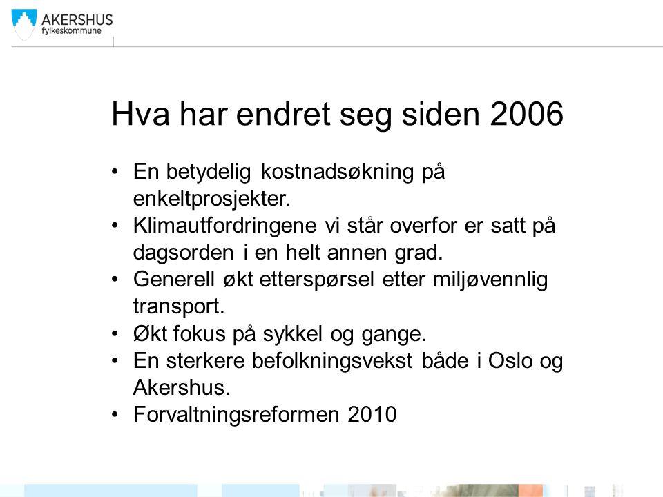 Hva har endret seg siden 2006