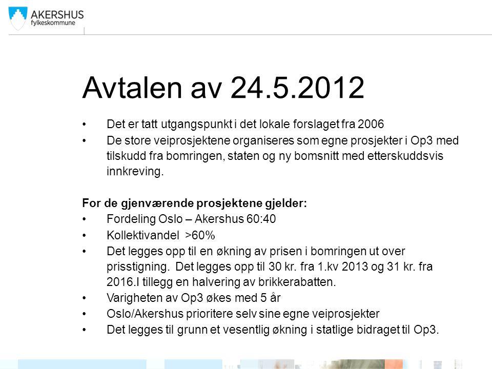 Avtalen av 24.5.2012 Det er tatt utgangspunkt i det lokale forslaget fra 2006.