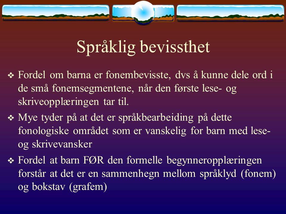 Språklig bevissthet