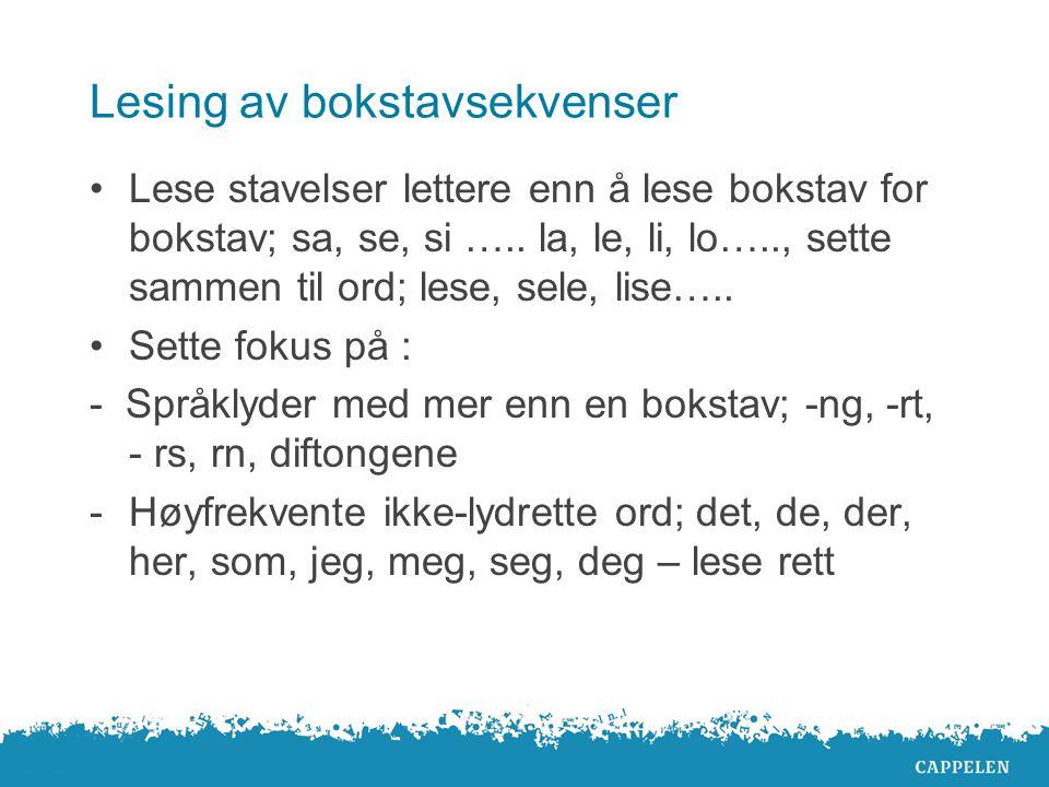 Lesing av bokstavsekvenser