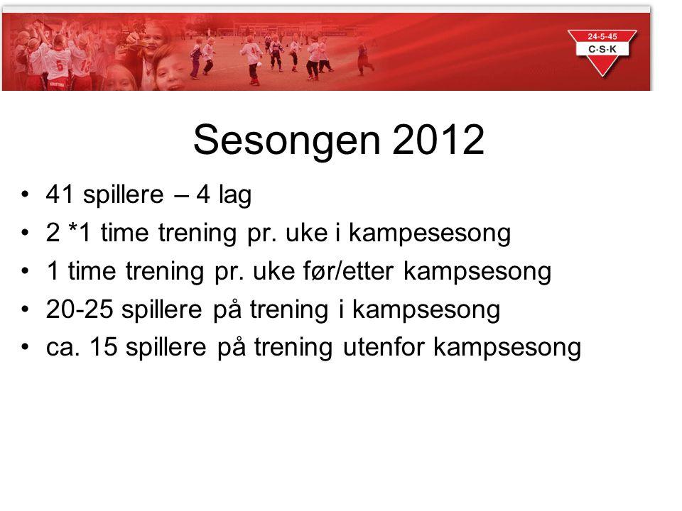 Sesongen 2012 41 spillere – 4 lag