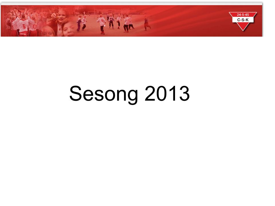 Sesong 2013 Sesong 2013
