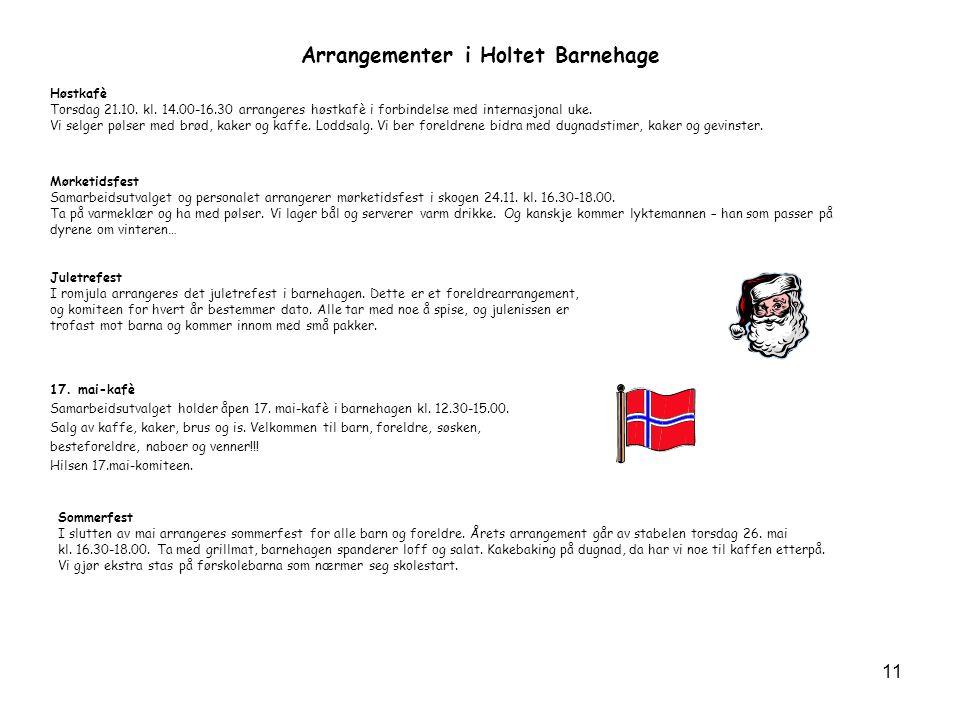 Arrangementer i Holtet Barnehage