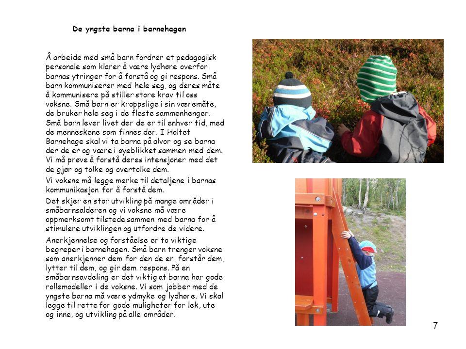 De yngste barna i barnehagen