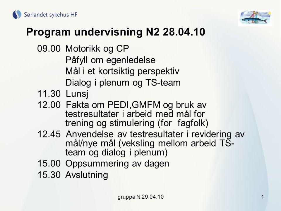 Program undervisning N2 28.04.10