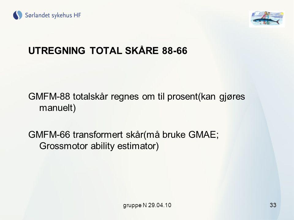 UTREGNING TOTAL SKÅRE 88-66