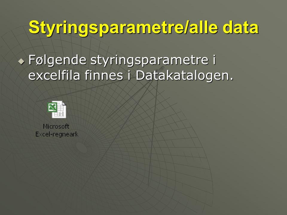 Styringsparametre/alle data
