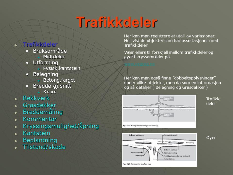 Trafikkdeler Trafikkdeler Rekkverk Grasdekker Breddemåling Kommentar