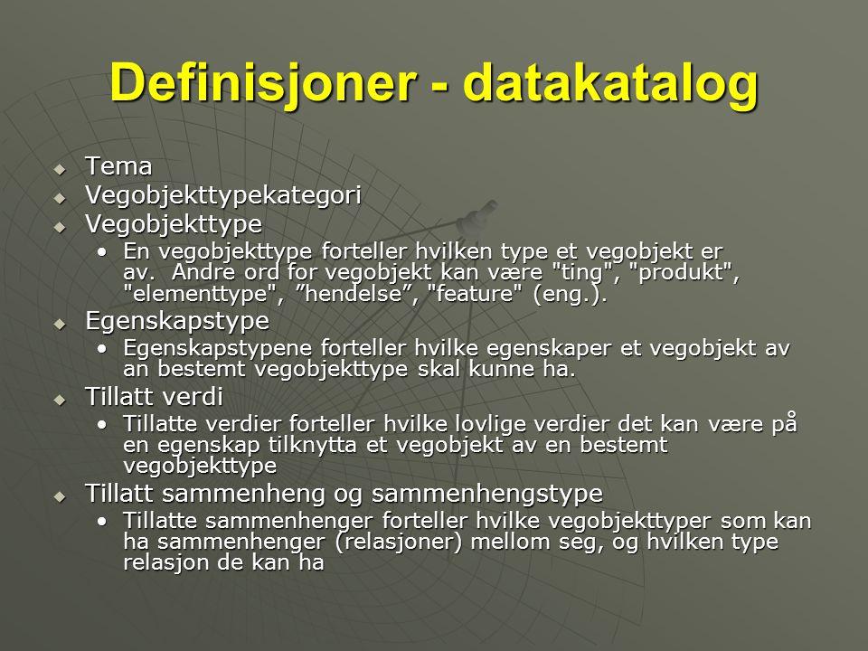 Definisjoner - datakatalog