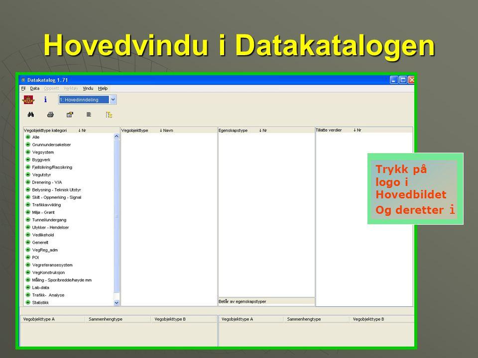 Hovedvindu i Datakatalogen