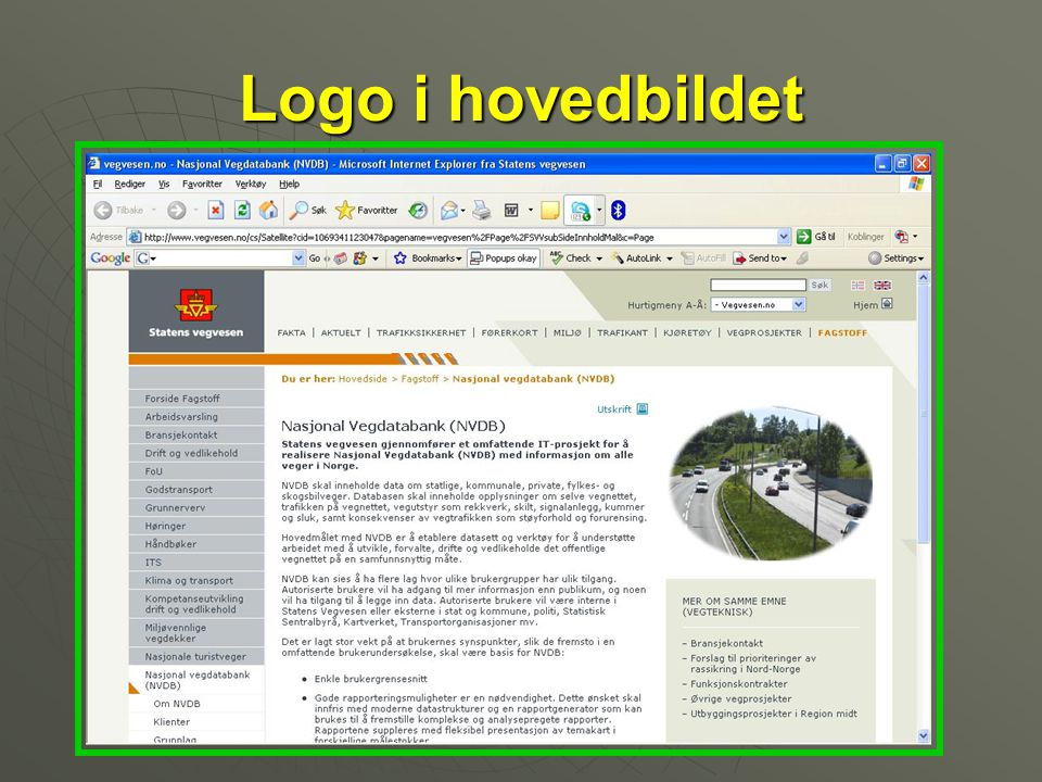 Logo i hovedbildet