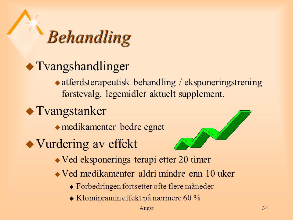 Behandling Tvangshandlinger Tvangstanker Vurdering av effekt