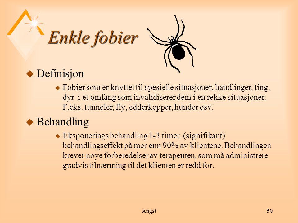 Enkle fobier Definisjon Behandling