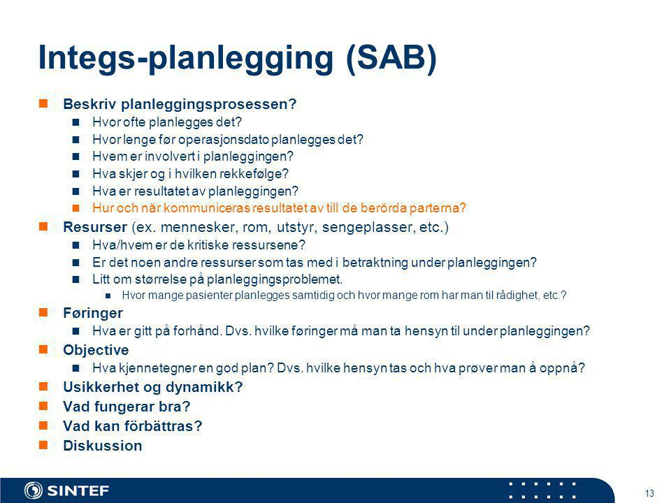 Integs-planlegging (SAB)