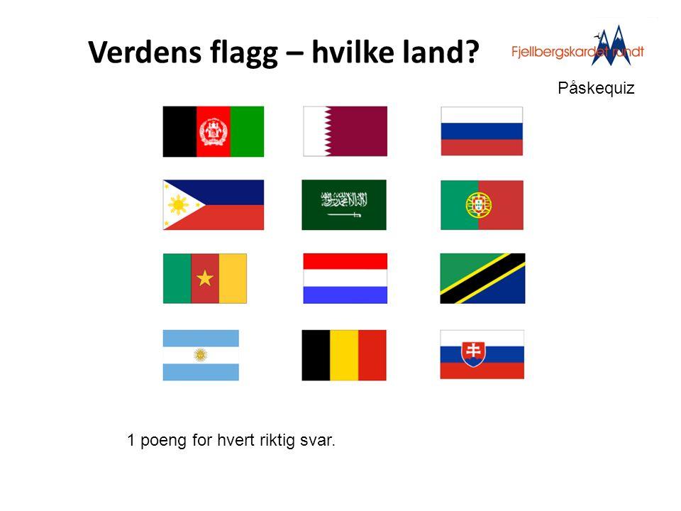 Verdens flagg – hvilke land