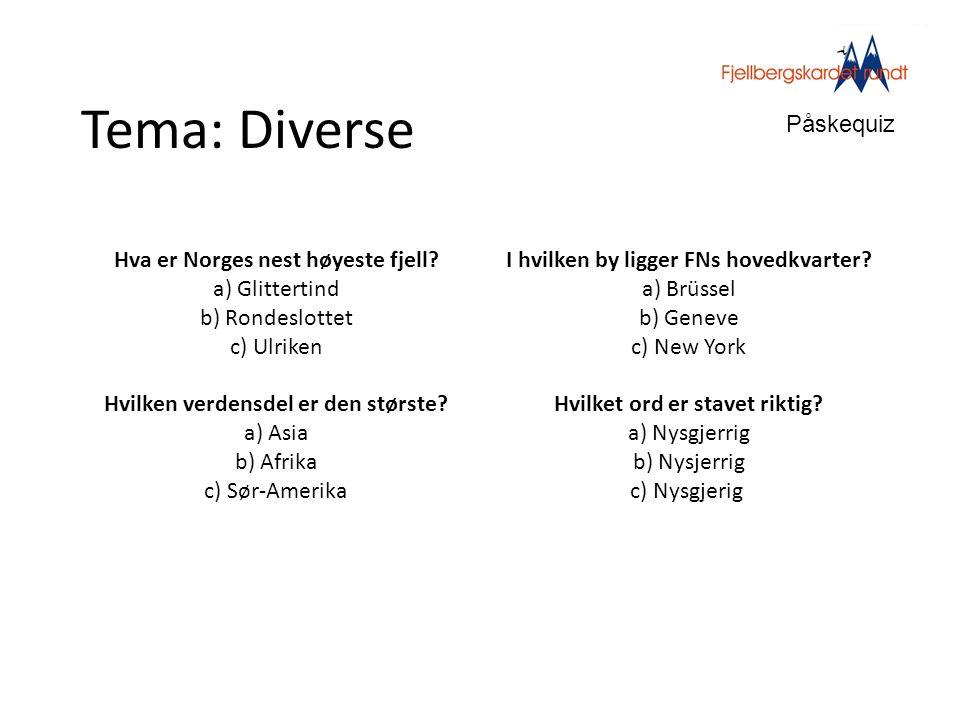 Tema: Diverse Påskequiz