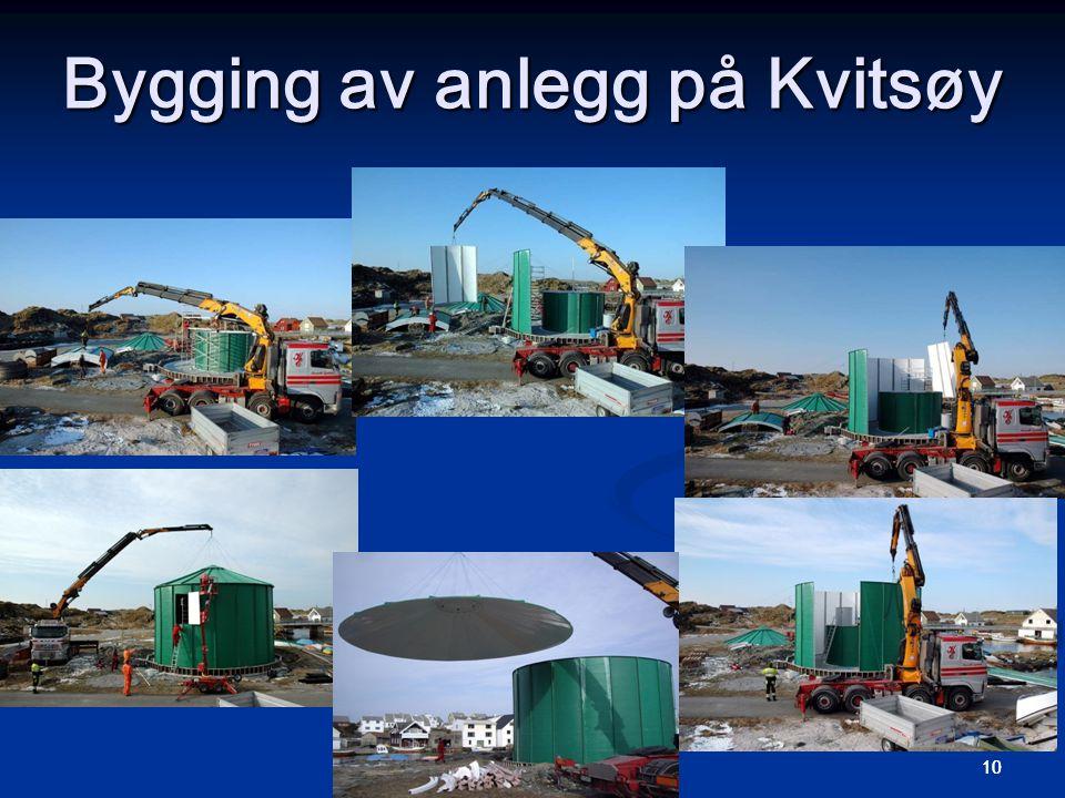 Bygging av anlegg på Kvitsøy