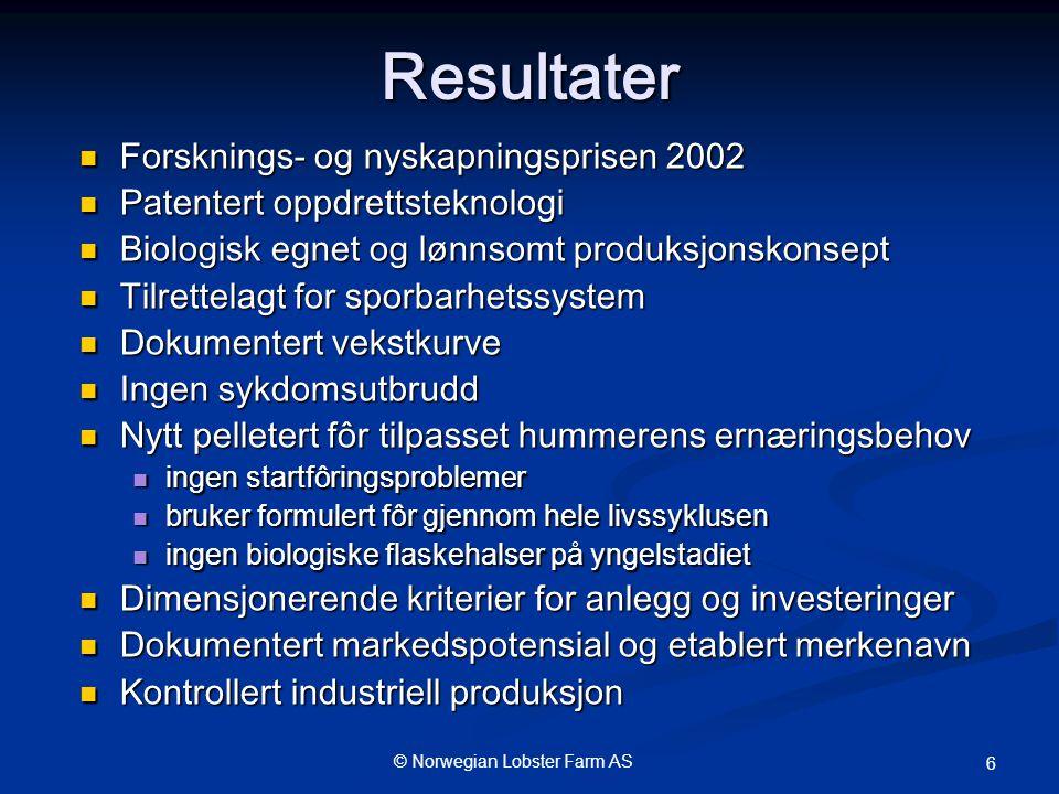 Resultater Forsknings- og nyskapningsprisen 2002