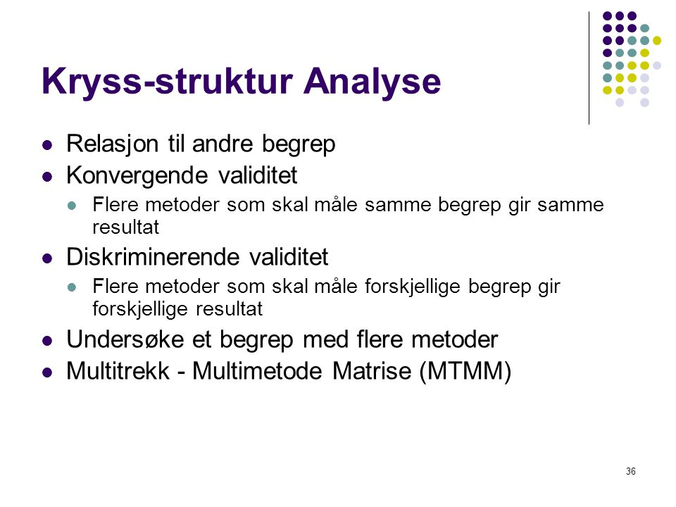 Kryss-struktur Analyse