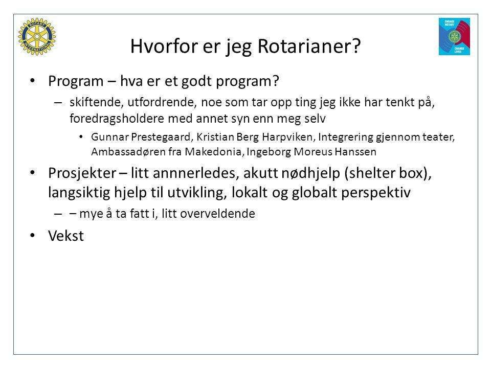 Hvorfor er jeg Rotarianer