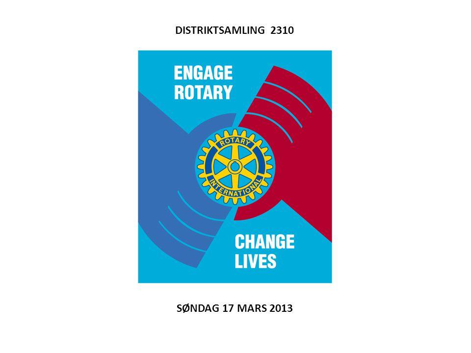 DISTRIKTSAMLING 2310 SØNDAG 17 MARS 2013