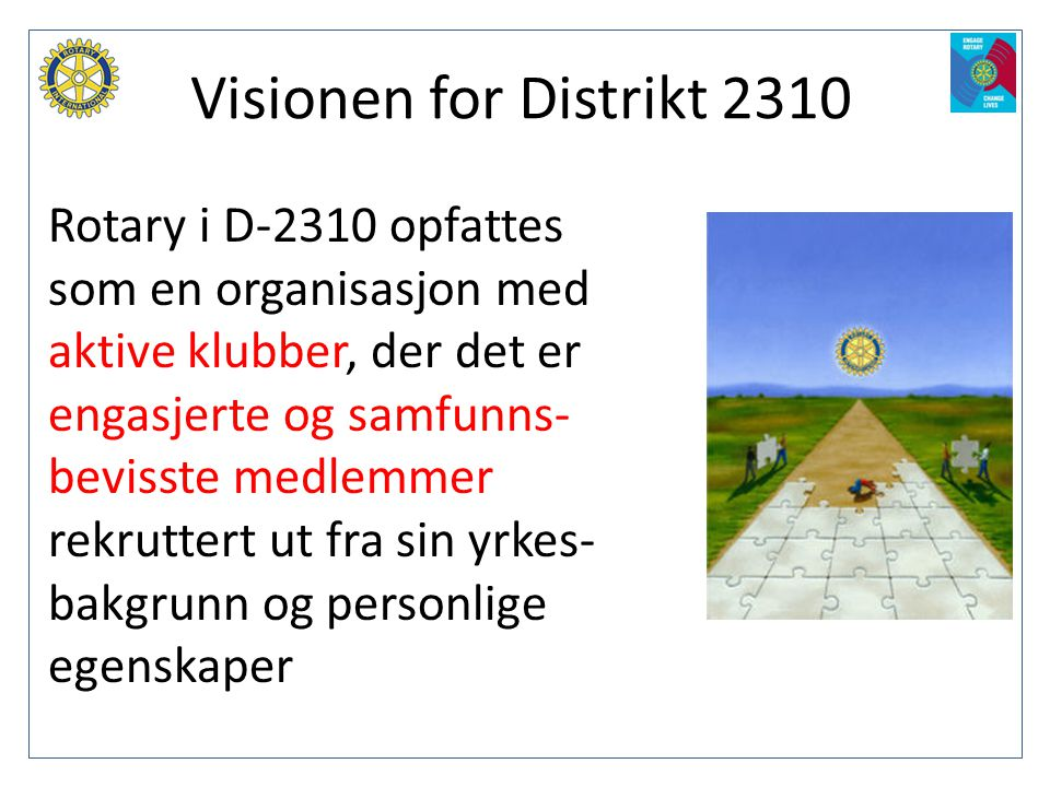 Visionen for Distrikt 2310