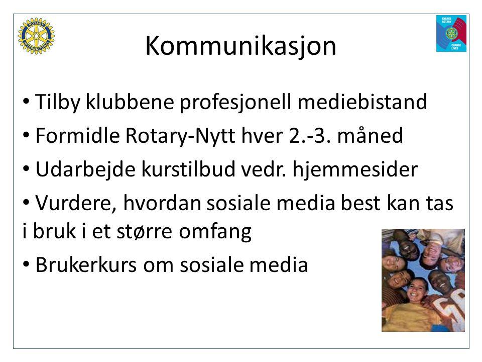 Kommunikasjon Tilby klubbene profesjonell mediebistand