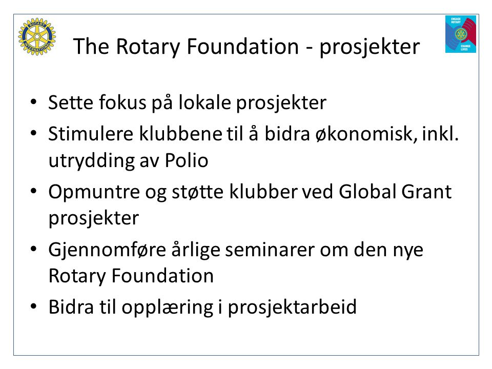 The Rotary Foundation - prosjekter