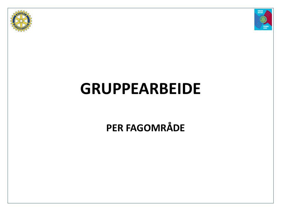 GRUPPEARBEIDE PER FAGOMRÅDE
